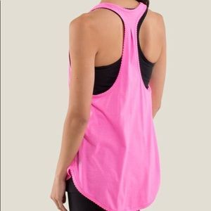 lululemon athletica Tops - Lululemon 105 F Singlet Silver Pink Size 8